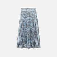 Proenza Schouler Printed Pleated Long Skirt - Light Blue / Grey Thumbnail 1