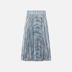 Proenza Schouler Printed Pleated Long Skirt - Light Blue / Grey