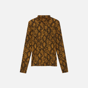 Proenza Schouler L/S Turtleneck Top - Gold / Black Snake