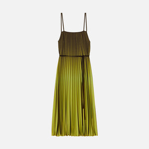Proenza Schouler Ombre Pleated Dress - Olive / Black
