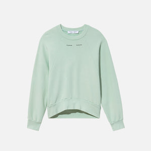 Proenza Schouler Modified Raglan Solid Sweatshirt - Mint