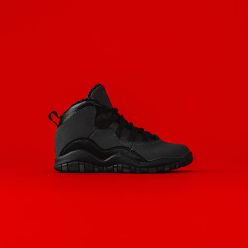 Nike Pre-School Air Jordan 10 Retro - Dark Shadow / True Red Black