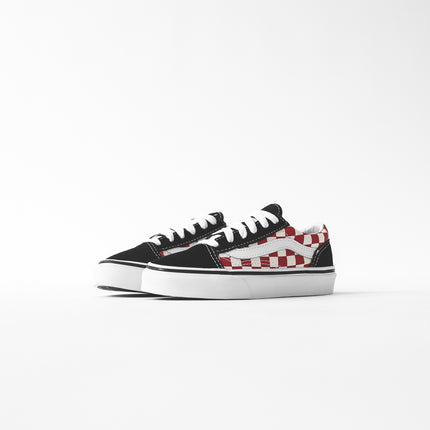 Vans Kids Old Skool Checkerboard - Black / Red