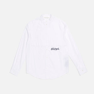 Palm Angels Short Fringed Shirt - White