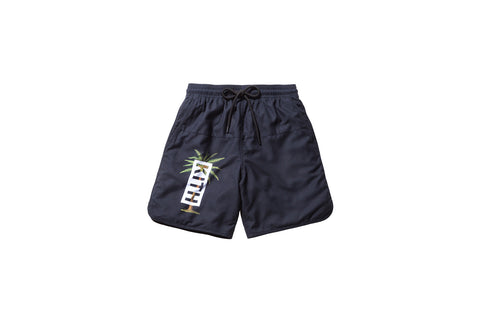 Kith Rockaway Palm Swim Trunk - Black