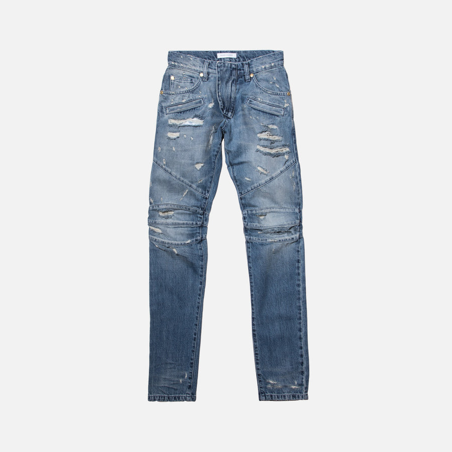 Pierre Balmain Moto Denim - Blue