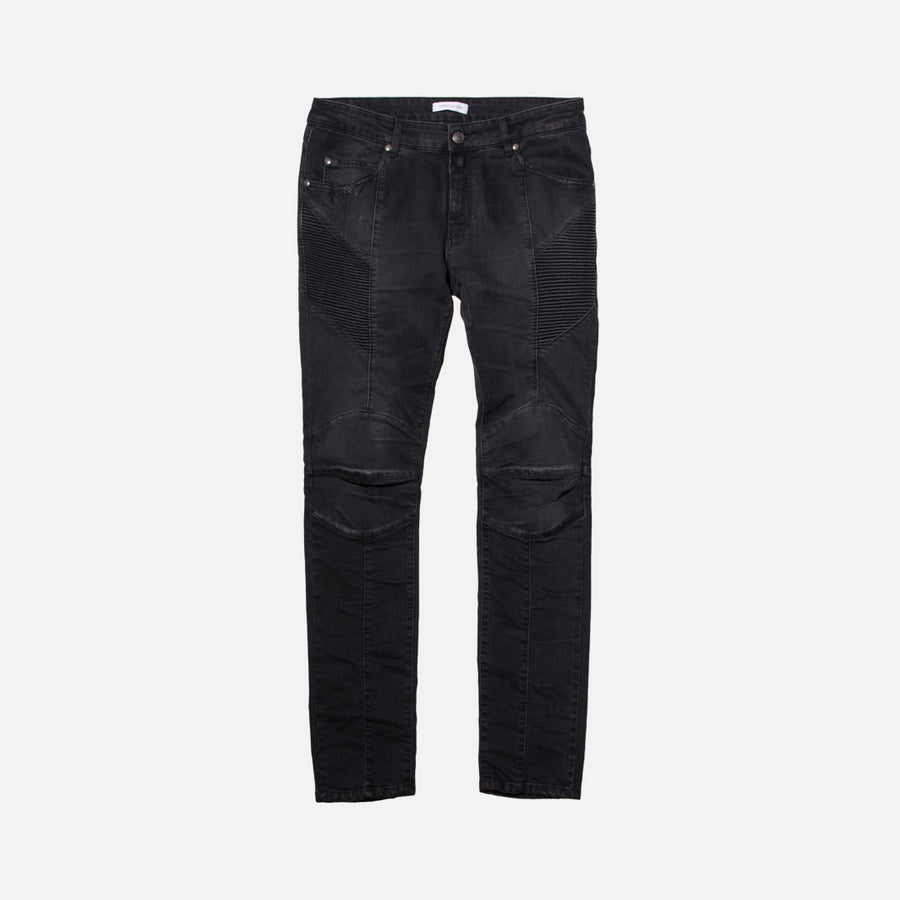 Pierre Balmain Biker Denim - Black
