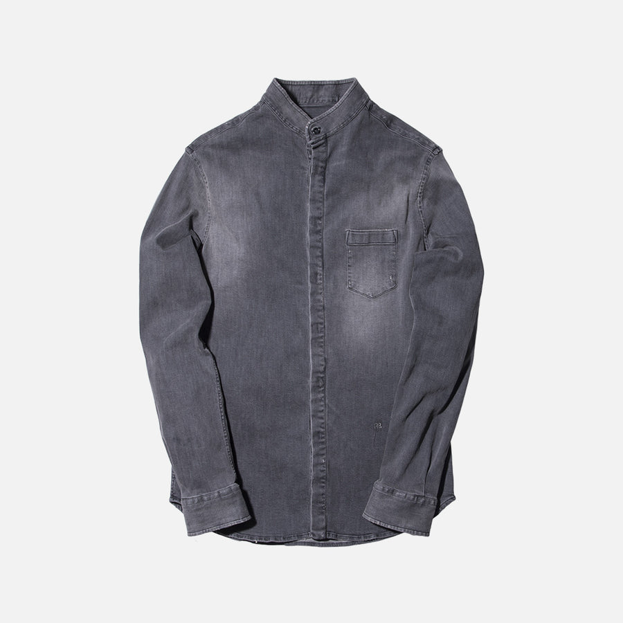 Pierre Balmain Denim Button-Up - Black