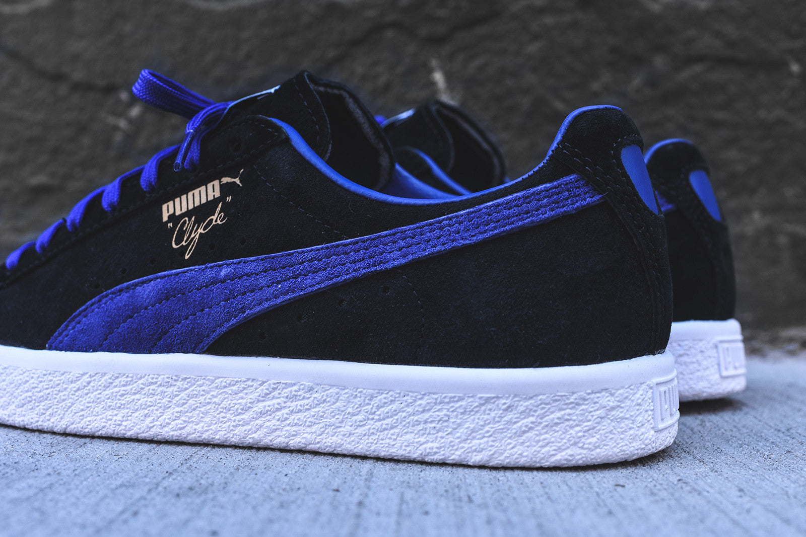 Puma Clyde Select - Black / Blue