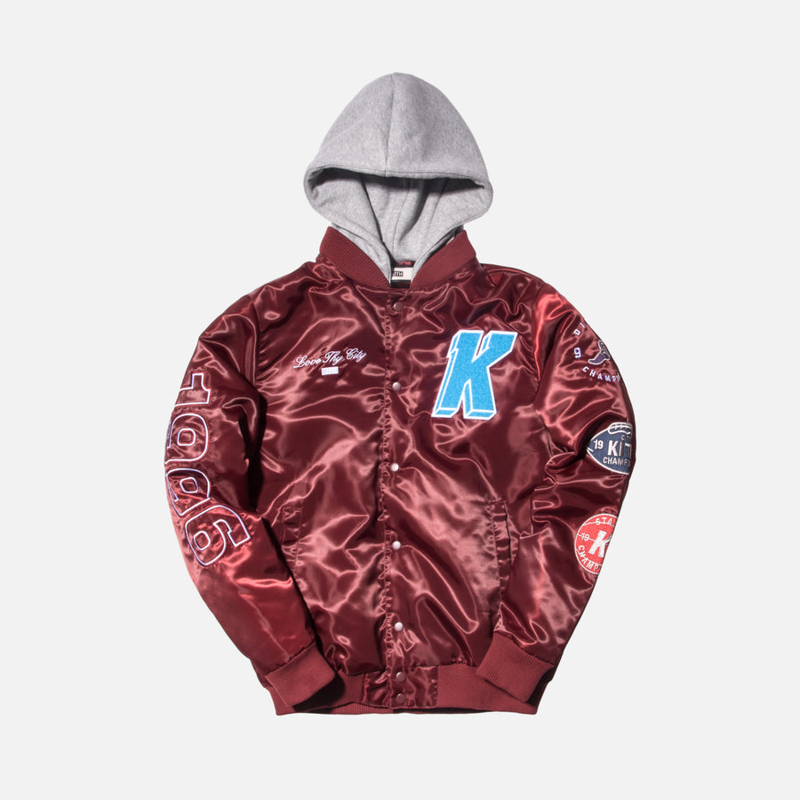 Kith Gorman Varsity Jacket - Burgundy