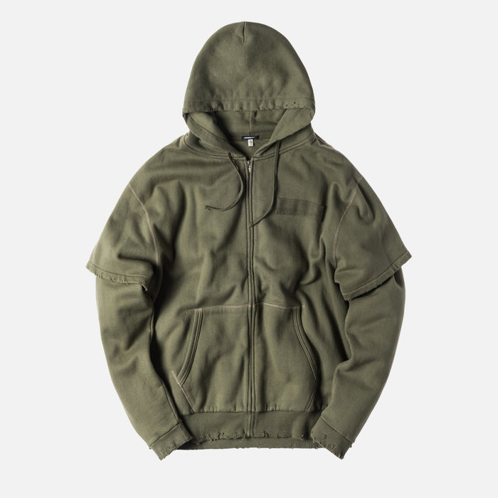R13 Double Layer Hoodie - Olive