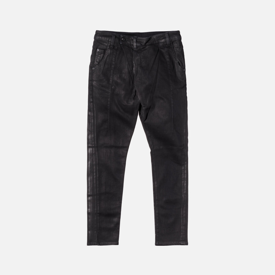 R13 X-Over Faded Denim - Black