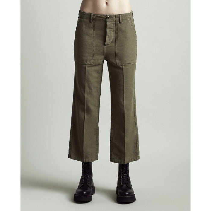 Straight Utility Pants - Olive