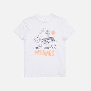 ReDone 70s Loose Tee I Don't Do Mornings - White
