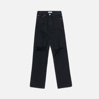 ReDone High Rise Loose - Washed Black w/ Rips Thumbnail 1