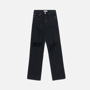 ReDone High Rise Loose - Washed Black w/ Rips Image 1