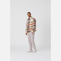 Kith for Pendleton Wyeth Trail Puffer Shirt Jacket - Tan / Multi Thumbnail 2