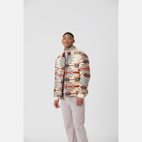 Kith for Pendleton Wyeth Trail Puffer Shirt Jacket - Tan / Multi Thumbnail 3