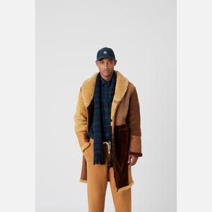 Kith Shearling Patchwork Becker Coat - Tan / Multi