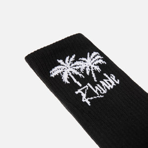 Rhude Palm Tree Socks - Black