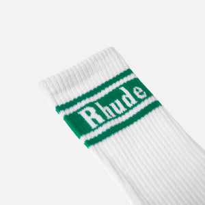 Rhude Striped Socks - Green