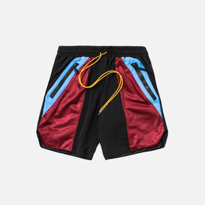 Rhude Swim Shorts - Black / Blue / Red