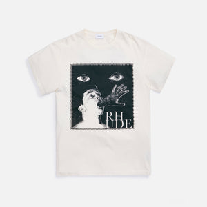 Rhude Post Stamp Tee - White