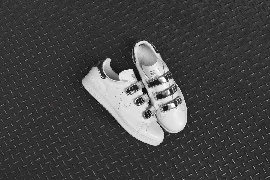 adidas Originals x Raf Simons Stan Smith Velcro - White / Metallic Silver