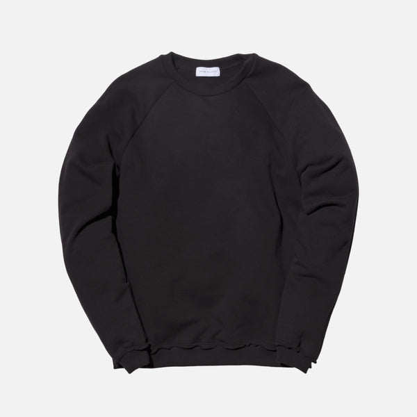 John Elliott Raw Edge Raglan Crewneck - Black