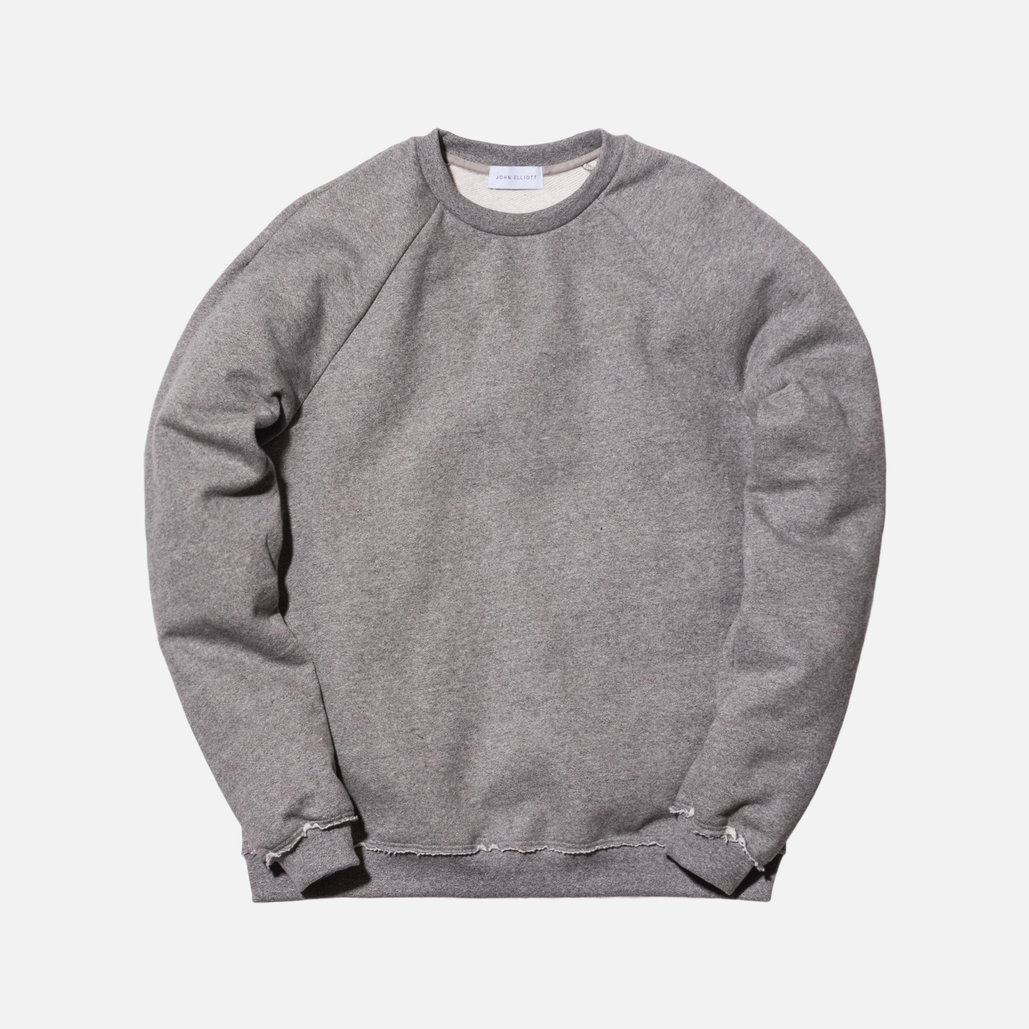 John Elliott Raw Edge Raglan Crewneck - Dark Grey