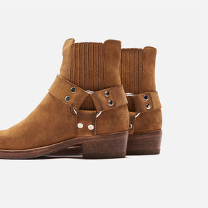 ReDone Short Cavalry Boot Worn - Tan Suede Image 4