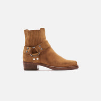 ReDone Short Cavalry Boot Worn - Tan Suede Thumbnail 1