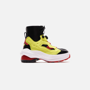 Maison Margiela x Reebok Pump Tabi Boot - Black / Yellow Matt