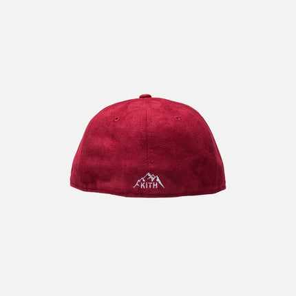 Kith x New Era K 59FIFTY Cap -  Cardinal Red