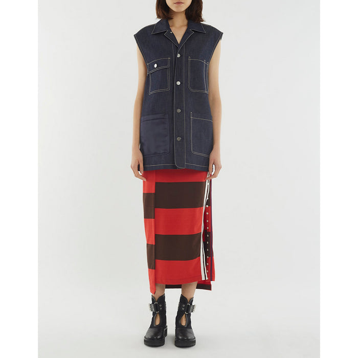 3.1 Phillip Lim Oversized Workwear Denim Vest