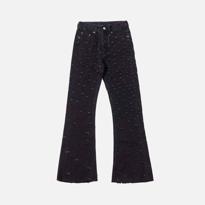 MM6 Maison Margiela Flared Bootcut Jeans - Black