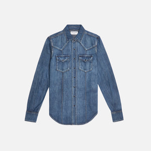 Saint Laurent Denim Western Shirt - Blue
