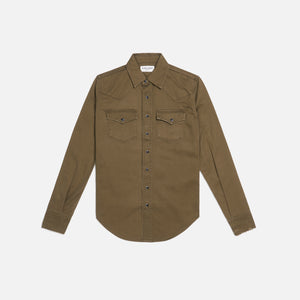Saint Laurent Western Shirt - Khaki