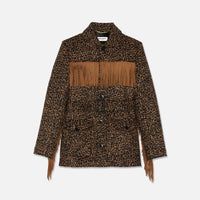 Saint Laurent Fringe Jacket - Leopard Thumbnail 1