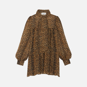 Saint Laurent Babydoll Dress - Leopard