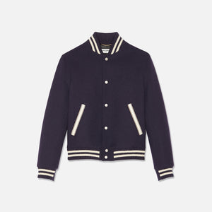 Saint Laurent Teddy Jacket - Navy / White