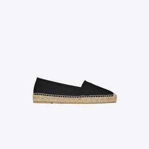 Saint Laurent Flat Heel Leather Up - Nero