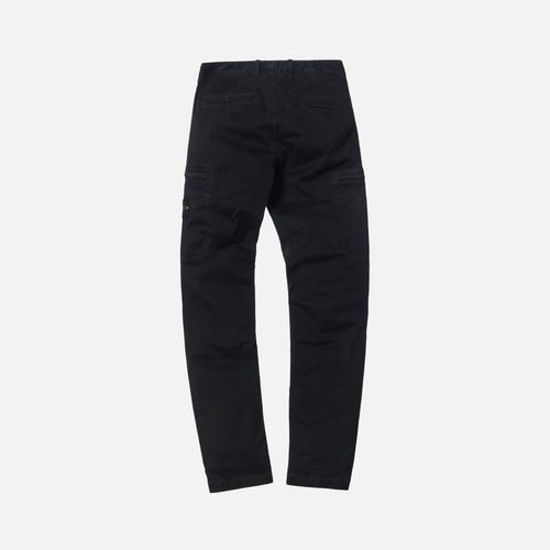 Stone Island Broken Twill Stretch Cotton Slim Zip Cargo Pant - Black