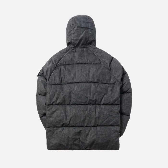 Stone Island Cotton Metal Garment Dyed Puffer - Black
