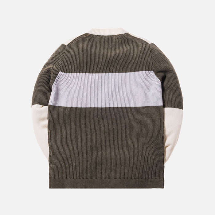 Stone Island Wool Embroidered Logo Sweater - Olive / Grey