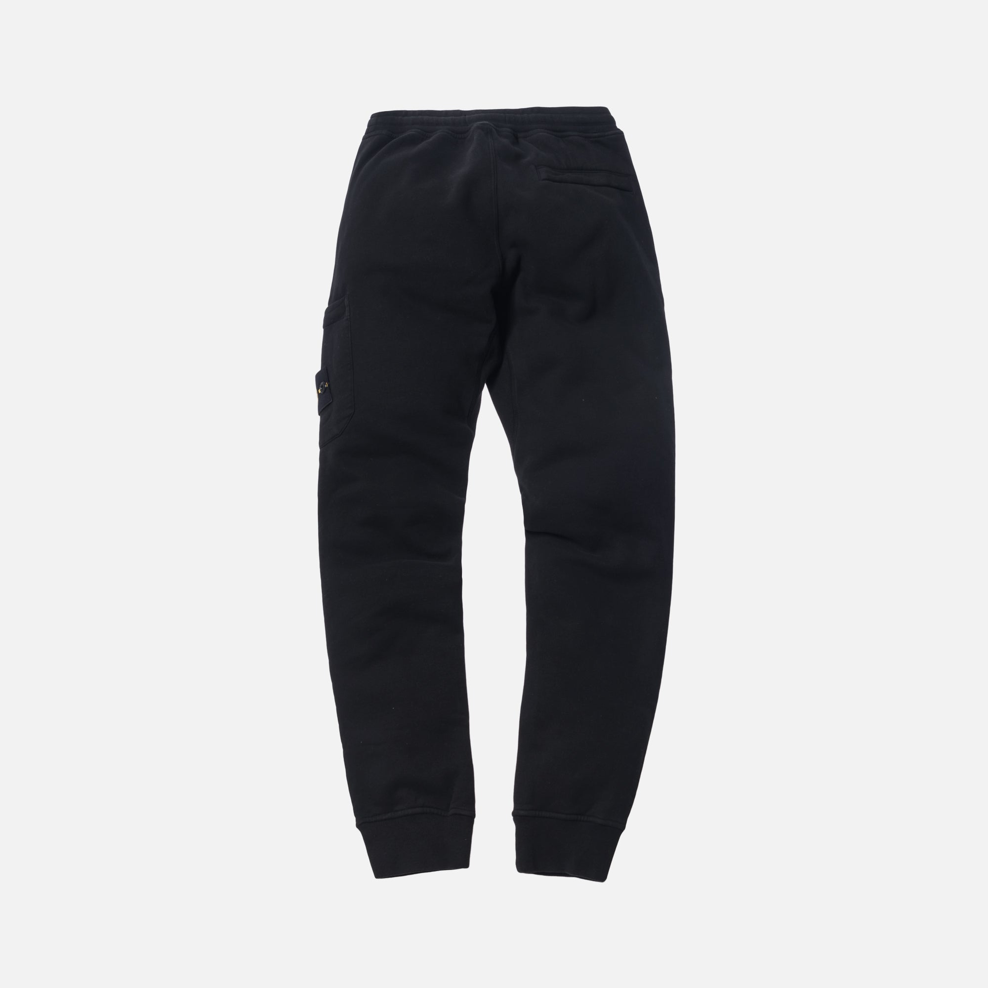 Stone Island Brushed Cotton Garment Dyed Sweatpant - Black