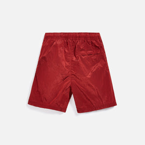 Stone Island Nylon Metal Mid Length Garment Dyed Logo Swim Short - Red