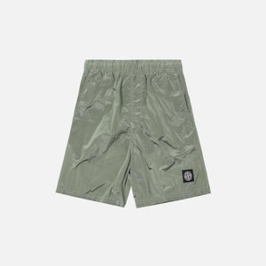 Stone Island Nylon Metal Mid Length Garment Dyed Logo Swim Short - Salvia