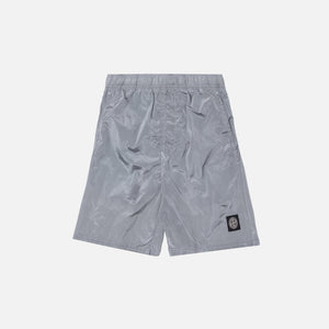 Stone Island Nylon Metal Mid Length Garment Dyed Logo Swim Short - Perla