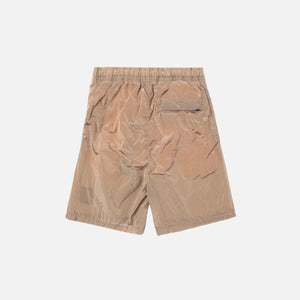 Stone Island Nylon Metal Mid Length Garment Dyed Logo Swim Short - Salmon